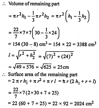 ML Aggarwal Class 10 Solutions for ICSE Maths Chapter 17 Mensuration Ex 17.4 19