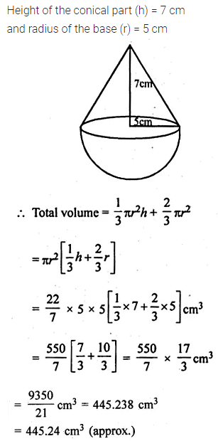 ML Aggarwal Class 10 Solutions for ICSE Maths Chapter 17 Mensuration Ex 17.4 23