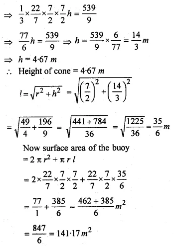 ML Aggarwal Class 10 Solutions for ICSE Maths Chapter 17 Mensuration Ex 17.4 25