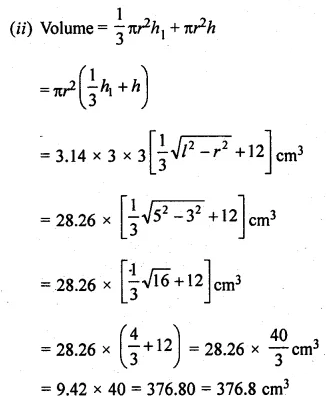 ML Aggarwal Class 10 Solutions for ICSE Maths Chapter 17 Mensuration Ex 17.4 30