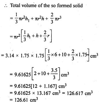 ML Aggarwal Class 10 Solutions for ICSE Maths Chapter 17 Mensuration Ex 17.4 32