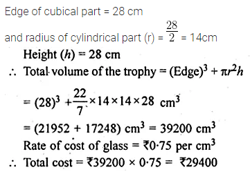 ML Aggarwal Class 10 Solutions for ICSE Maths Chapter 17 Mensuration Ex 17.4 4