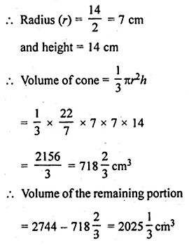 ML Aggarwal Class 10 Solutions for ICSE Maths Chapter 17 Mensuration Ex 17.4 6