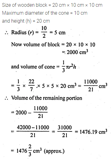 ML Aggarwal Class 10 Solutions for ICSE Maths Chapter 17 Mensuration Ex 17.4 7