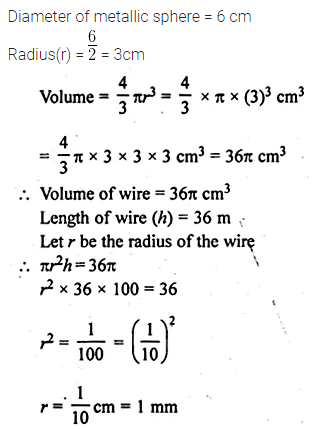 ML Aggarwal Class 10 Solutions for ICSE Maths Chapter 17 Mensuration Ex 17.5 1