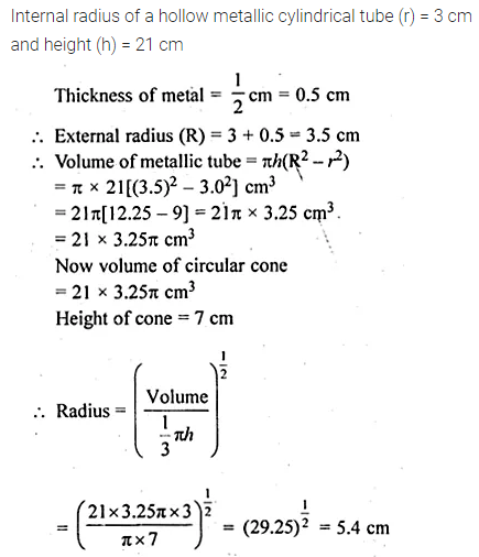 ML Aggarwal Class 10 Solutions for ICSE Maths Chapter 17 Mensuration Ex 17.5 12