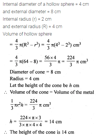ML Aggarwal Class 10 Solutions for ICSE Maths Chapter 17 Mensuration Ex 17.5 13