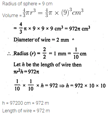 ML Aggarwal Class 10 Solutions for ICSE Maths Chapter 17 Mensuration Ex 17.5 2