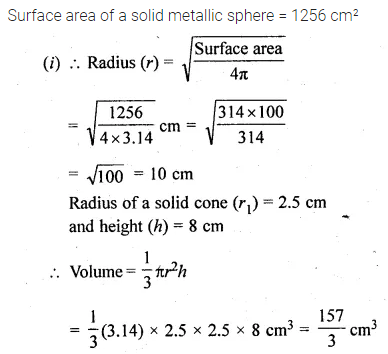 ML Aggarwal Class 10 Solutions for ICSE Maths Chapter 17 Mensuration Ex 17.5 29