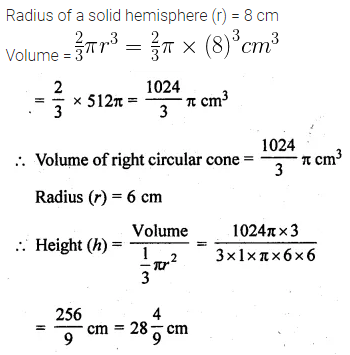ML Aggarwal Class 10 Solutions for ICSE Maths Chapter 17 Mensuration Ex 17.5 3