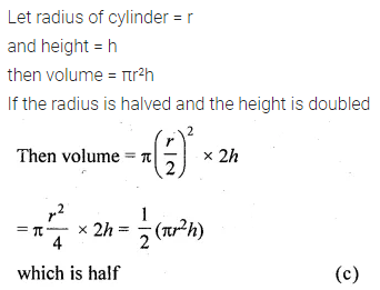 ML Aggarwal Class 10 Solutions for ICSE Maths Chapter 17 Mensuration MCQS 1