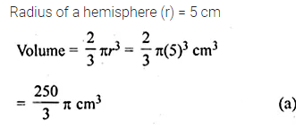 ML Aggarwal Class 10 Solutions for ICSE Maths Chapter 17 Mensuration MCQS 11