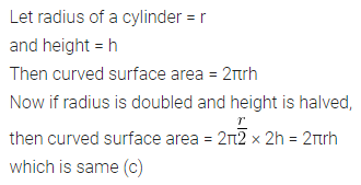 ML Aggarwal Class 10 Solutions for ICSE Maths Chapter 17 Mensuration MCQS 2