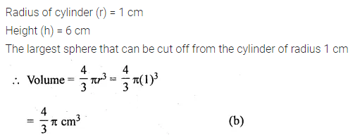 ML Aggarwal Class 10 Solutions for ICSE Maths Chapter 17 Mensuration MCQS 21