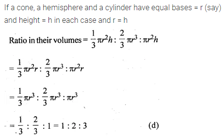 ML Aggarwal Class 10 Solutions for ICSE Maths Chapter 17 Mensuration MCQS 23