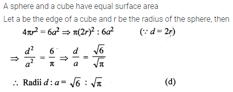 ML Aggarwal Class 10 Solutions for ICSE Maths Chapter 17 Mensuration MCQS 24