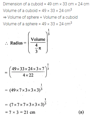 ML Aggarwal Class 10 Solutions for ICSE Maths Chapter 17 Mensuration MCQS 25