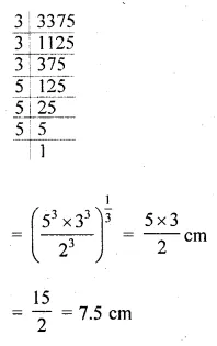 ML Aggarwal Class 10 Solutions for ICSE Maths Chapter 17 Mensuration MCQS 28