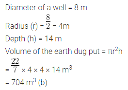ML Aggarwal Class 10 Solutions for ICSE Maths Chapter 17 Mensuration MCQS 3