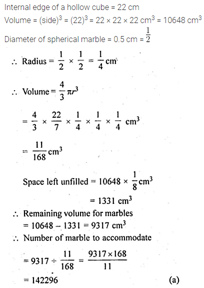 ML Aggarwal Class 10 Solutions for ICSE Maths Chapter 17 Mensuration MCQS 33