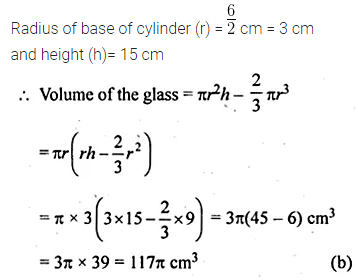 ML Aggarwal Class 10 Solutions for ICSE Maths Chapter 17 Mensuration MCQS 35
