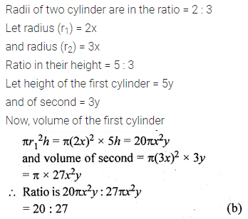 ML Aggarwal Class 10 Solutions for ICSE Maths Chapter 17 Mensuration MCQS 5