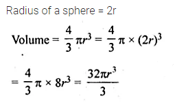 ML Aggarwal Class 10 Solutions for ICSE Maths Chapter 17 Mensuration MCQS 9