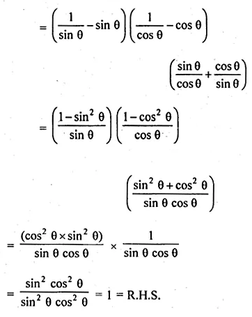 ML Aggarwal Class 10 Solutions for ICSE Maths Chapter 18 Trigonometric Identities Chapter Test 11