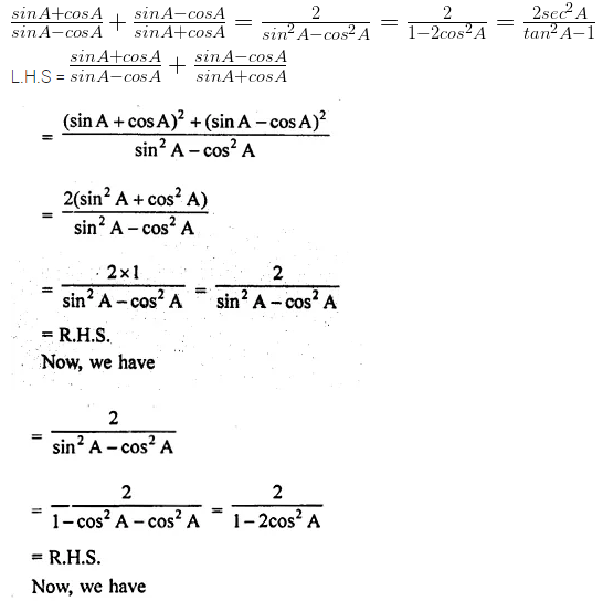 ML Aggarwal Class 10 Solutions for ICSE Maths Chapter 18 Trigonometric Identities Chapter Test 23