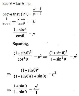 ML Aggarwal Class 10 Solutions for ICSE Maths Chapter 18 Trigonometric Identities Chapter Test 28