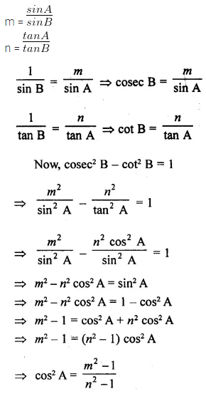 ML Aggarwal Class 10 Solutions for ICSE Maths Chapter 18 Trigonometric Identities Chapter Test 30