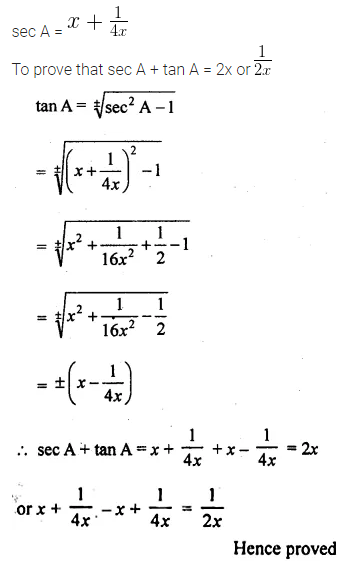 ML Aggarwal Class 10 Solutions for ICSE Maths Chapter 18 Trigonometric Identities Chapter Test 31