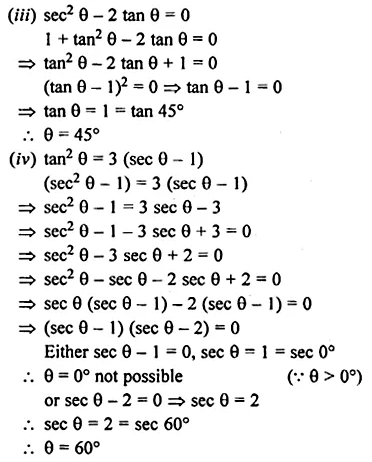 ML Aggarwal Class 10 Solutions for ICSE Maths Chapter 18 Trigonometric Identities Chapter Test 33