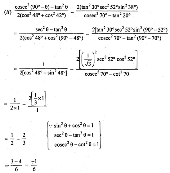 ML Aggarwal Class 10 Solutions for ICSE Maths Chapter 18 Trigonometric Identities Ex 18 15