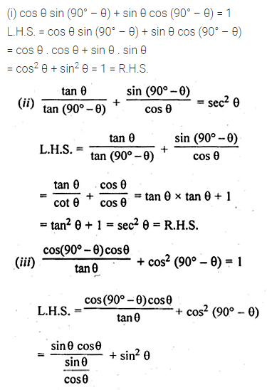 ML Aggarwal Class 10 Solutions for ICSE Maths Chapter 18 Trigonometric Identities Ex 18 16
