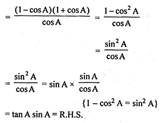ML Aggarwal Class 10 Solutions for ICSE Maths Chapter 18 Trigonometric Identities Ex 18 21