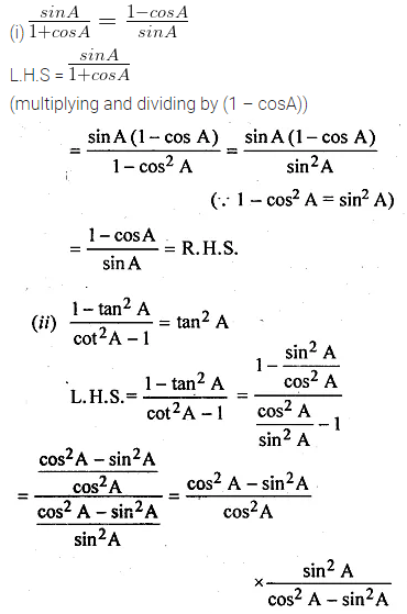 ML Aggarwal Class 10 Solutions for ICSE Maths Chapter 18 Trigonometric Identities Ex 18 23