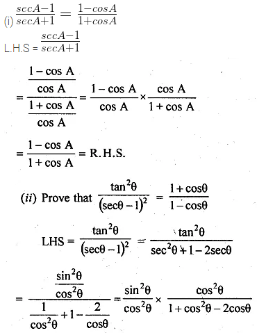 ML Aggarwal Class 10 Solutions for ICSE Maths Chapter 18 Trigonometric Identities Ex 18 25
