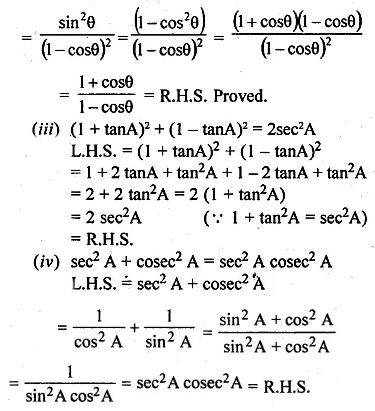 ML Aggarwal Class 10 Solutions for ICSE Maths Chapter 18 Trigonometric Identities Ex 18 26
