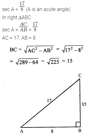 ML Aggarwal Class 10 Solutions for ICSE Maths Chapter 18 Trigonometric Identities Ex 18 3