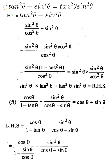 ML Aggarwal Class 10 Solutions for ICSE Maths Chapter 18 Trigonometric Identities Ex 18 33