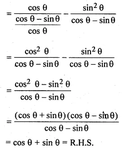 ML Aggarwal Class 10 Solutions for ICSE Maths Chapter 18 Trigonometric Identities Ex 18 34