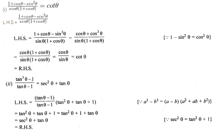 ML Aggarwal Class 10 Solutions for ICSE Maths Chapter 18 Trigonometric Identities Ex 18 35