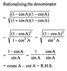 ML Aggarwal Class 10 Solutions for ICSE Maths Chapter 18 Trigonometric Identities Ex 18 38