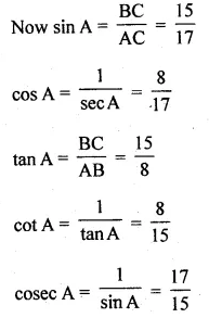 ML Aggarwal Class 10 Solutions for ICSE Maths Chapter 18 Trigonometric Identities Ex 18 4