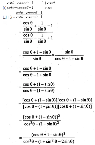 ML Aggarwal Class 10 Solutions for ICSE Maths Chapter 18 Trigonometric Identities Ex 18 46