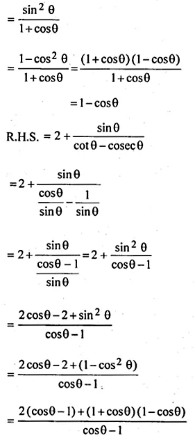 ML Aggarwal Class 10 Solutions for ICSE Maths Chapter 18 Trigonometric Identities Ex 18 48