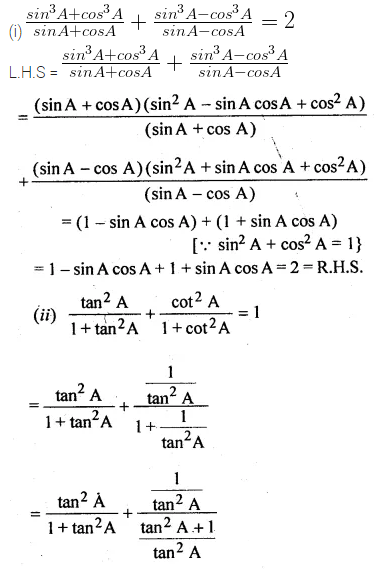 ML Aggarwal Class 10 Solutions for ICSE Maths Chapter 18 Trigonometric Identities Ex 18 52