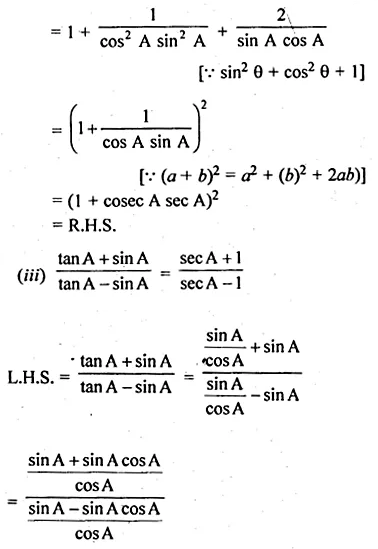 ML Aggarwal Class 10 Solutions for ICSE Maths Chapter 18 Trigonometric Identities Ex 18 56
