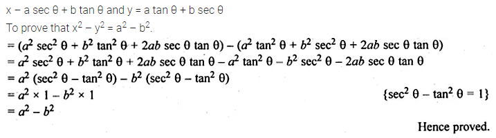 ML Aggarwal Class 10 Solutions for ICSE Maths Chapter 18 Trigonometric Identities Ex 18 61